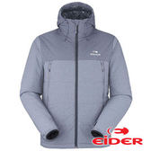 【法國EiDER】男 防風保暖抗雪 連帽外套 深海藍/夜藍雲 EIV3293