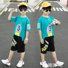 男童套裝 童裝套裝男童運動夏裝新款春秋兒童夏季短袖洋氣兩件套韓版潮 韓菲兒