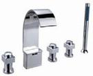 【麗室衛浴】國產精緻五件式浴缸龍頭 CNT35015