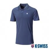 K-SWISS Small Neon Logo Polo排汗POLO衫-男-藍