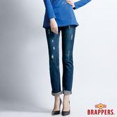 BRAPPERS 女款 Boy Friend Jeans系列 女用3D直統褲-藍