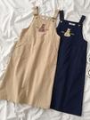 減齡ins連身裙年夏季新款女裝韓版學生休閒百搭刺繡吊帶裙 格蘭小鋪