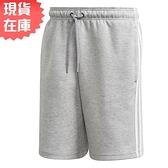 【現貨】ADIDAS 3-STRIPES 男裝 短褲 休閒 兩側口袋 後方小LOGO 棉 灰【運動世界】GK4868