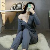 【熊貓】日式和服浴衣汗蒸服開襟家居服