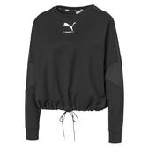 Puma Nu-Tility 女 黑色 長袖 流行系列 長袖T恤 透氣 排汗 運動 休閒 短版 長T  58276601