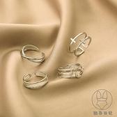 戒指女潮時尚個性小眾設計簡約冷淡風開口可調節食指指環【貼身日記】
