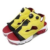 【五折特賣】Reebok 涼拖鞋 Insta Pump Fury Sandal 涼鞋 OG 配色 黃 紅 黑 女鞋 【ACS】 EF2922
