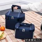 飯盒袋午餐便當包保溫袋包帆布手拎媽咪包帶飯的手提袋鋁箔加厚