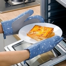 隔熱手套 微波爐防燙手套2只隔熱防熱家用耐高溫廚房烘焙烤箱專用手套布藝