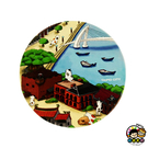 【收藏天地】台灣紀念品*神奇的陶瓷吸水杯墊-淡水貓咪∕馬克杯 送禮 文創 風景 觀光  禮品