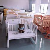 嬰兒床出口新生拼接大床實木多功能寶寶bb搖床兒童可折疊宜家igo  酷男精品館
