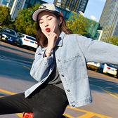 牛仔外套女春秋短款韓版2020新款寬鬆bf原宿學生港味百搭秋裝上衣