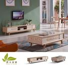客廳組 凱撒6.6尺電視櫃+4尺茶几桌【擇木深耕】