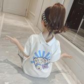 T恤—女童長款t恤夏裝新款兒童夏季短袖童裝半袖中大童體恤上衣t女 依夏嚴選
