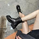 馬丁靴女英倫風2021年新款百搭短靴子厚底中筒靴春秋季單靴潮ins1 幸福第一站