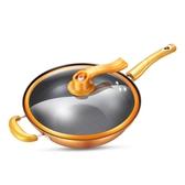 炒鍋不粘鍋無油煙家用麥飯石鐵鍋電磁爐燃氣灶平底鍋 i萬客居