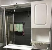 掛墻式衛生間浴室鏡櫃衛浴置物架帶燈壁掛洗手間化妝鏡子鏡面櫃MNS「時尚彩虹屋」