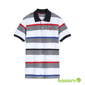 彈性立領POLO衫02灰白-bossini男裝
