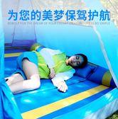 聖誕節雙人自動充氣防潮帳篷睡地墊子加厚野露營戶外沖氣床墊便攜TZGZ 免運快速出貨
