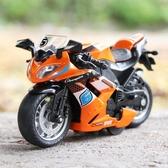仿真合金回力摩托車玩具模型寶寶聲光兒童玩具賽車男孩禮物小汽車 青木鋪子