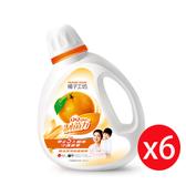 橘子工坊洗衣精制菌瓶裝1800ML*6瓶/箱