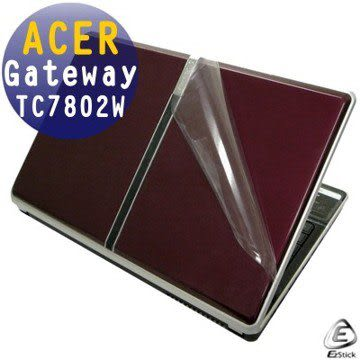EZstick機身保護貼-ACER GATEWAY TC7802W 系列專用(含上蓋及鍵盤週圍)機身貼