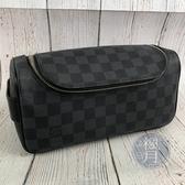 BRAND楓月 LOUIS VUITTON LV N47625 經典 黑色 棋盤格 盥洗包 化妝包 可放瓶罐