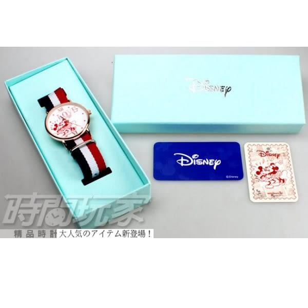 Disney 迪士尼 時尚卡通錶 MICKEY米奇 米老鼠 米妮 帆布休閒 造型錶 女錶 DM米奇A