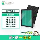 綠綠好日 HEPA抗菌濾芯 顆粒活性碳 適用 日立 HITACHI 清淨除濕機 RD-200HH RD-240HH RD-280HH RD-320HH RD-360HH