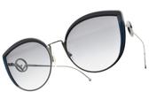 FENDI太陽眼鏡 FF0290S PJPGB (槍藍-漸層藍鏡片)  歐美時尚貓眼款 # 金橘眼鏡