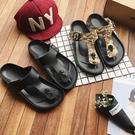 找到自己 MD 韓國 休閒 時尚 男 迷彩 圓頭 防滑 軟底 夾腳人字拖 沙灘涼鞋拖鞋 學生拖鞋