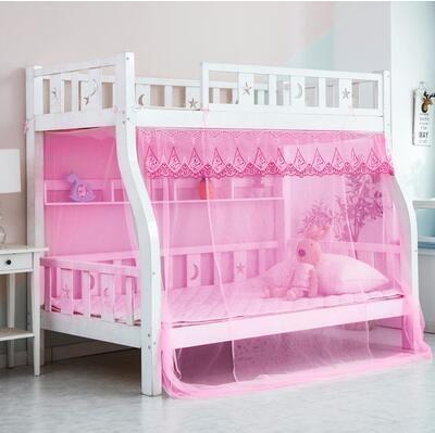 蚊帳 上下床子母床蚊帳加密雙層上下鋪高低梯形床1.2m1.5米1.8家用1.35TW【快速出貨八折特惠】