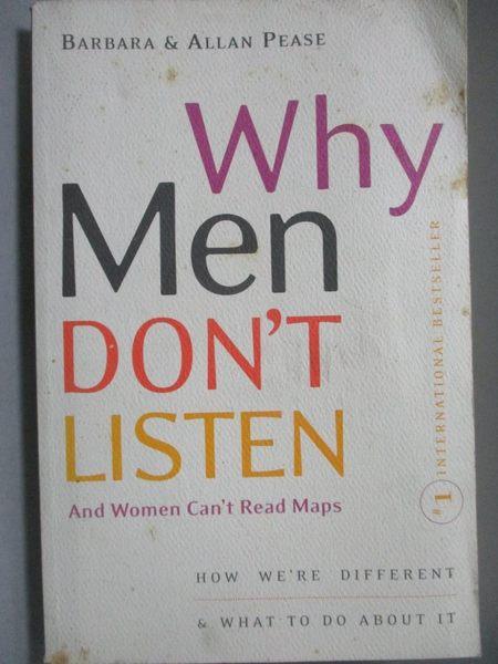 【書寶二手書T4/原文書_OPS】Why Men Don t Listen and Women Can t Read M