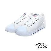 【韓國T2R】百搭帆布隱形氣墊增高鞋 7CM 白(5600-0249)