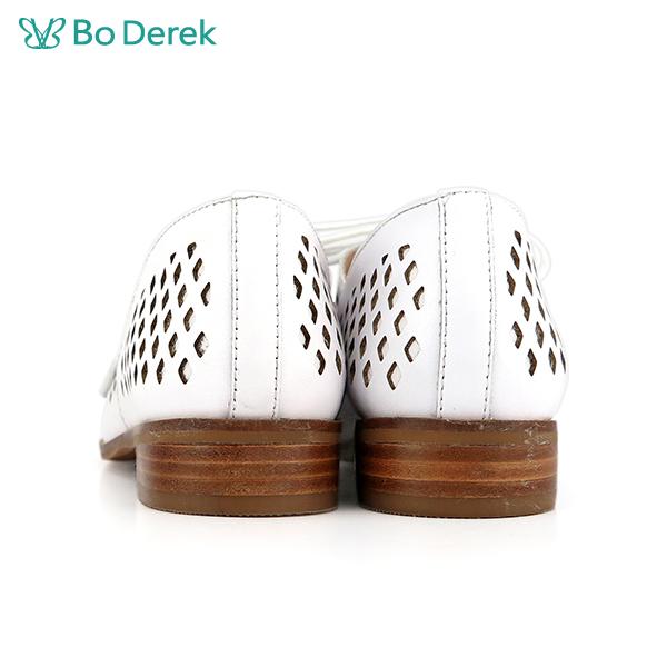 【Bo Derek 】菱格鏤空牛津鞋-白