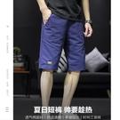 短褲男士休閒褲夏季薄款寬鬆運動中褲七分沙灘褲子外穿潮牌五分褲 黛尼時尚精品