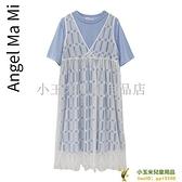 洋裝連身裙孕婦夏裝時尚式裝短袖T恤裙 蕾絲背心裙兩件式品牌【小玉米】