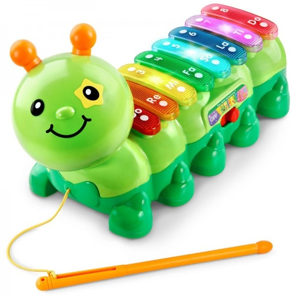 【 Vtech 聲光玩具 】2合1動感敲敲毛毛蟲╭★ JOYBUS玩具百貨