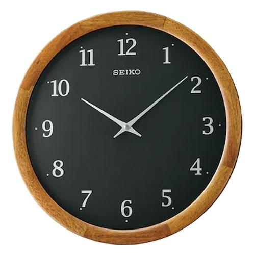 SEIKO 精工掛鐘 QXA763Z 簡約木質外框掛鐘 直徑35公分 QXA763