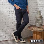 【JEEP】美式簡約休閒百搭長褲 (深藍)