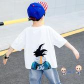 男童短袖 童裝男童t恤兒童短袖2019新款男孩夏裝中大童半袖體恤潮上衣洋氣8 3色
