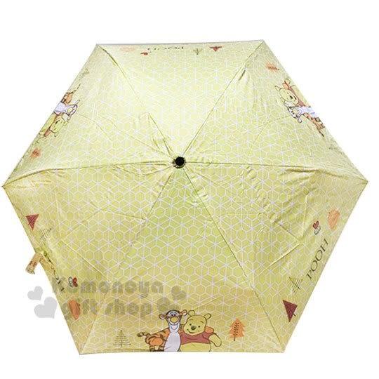 〔小禮堂〕迪士尼 小熊維尼 折疊雨陽傘《黃.站姿.跳跳虎》折傘.雨傘.雨具 4710591-65993
