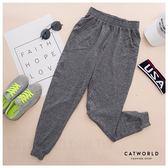 Catworld 雜訊紋縮口運動哈倫褲【12001772】‧S/M/L/XL/XXL