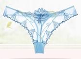 少女美屋網紗透明刺繡性感女式內褲誘惑T褲女士中低腰丁字褲女