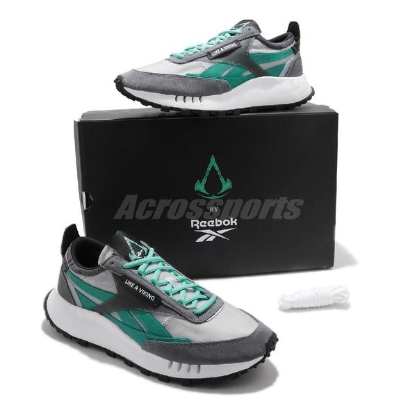 Reebok 休閒鞋 Assassins Creed x CL Legacy 灰 綠 男鞋 刺客教條 聯名款 【ACS】 GZ8459