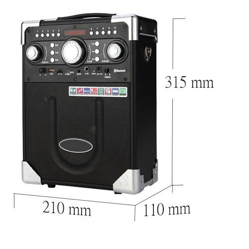 大聲公典雅型無線麥克風多功能行動音箱 (單無線話筒組)