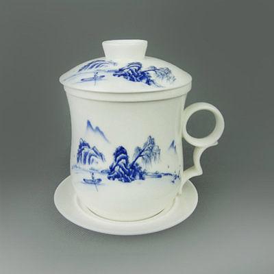 【2個價】陶瓷茶杯過濾帶蓋