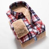 紳士미각磨毛格子長袖修身男士經典시퐁셔츠保暖襯衣  預購10天+現貨
