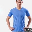 HENIS 1件組時尚型男快乾棉彩色短袖衫 隨機取色HS514