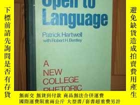 二手書博民逛書店Open罕見to Language: A New College